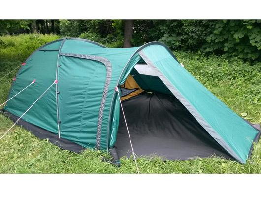 Палатка для туризма, охоты, рыбалки Атолл-3 с большим тамбуром