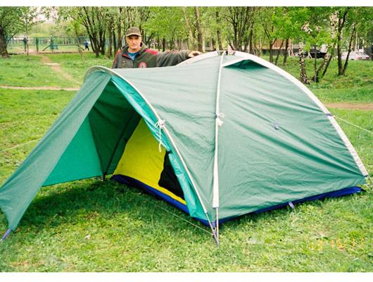 Палатка для туризма, охоты, рыбалки Атолл-3 с малым тамбуром