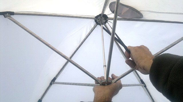 Зонт для зимней рыбалки своими руками 39